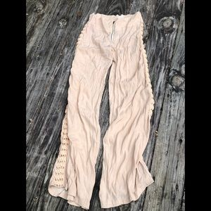 Acacia Silk pants nude